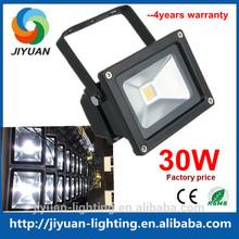 Silver or Black shell Aluminum alloy Cool white AC 85~265V/12V/24V 30w 2014 new led flood light