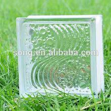 sea wave glass block