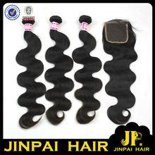 FREE SHIPPING 5A 22, 24, 26 Inch Hair Bundles With 16 Inch Closure JP Hair Cheap Wholesale High Quality Brazilian Hair Weave