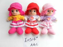 Encantadora delicado de trapo de algodón muñeca de la felpa para las muchachas de la muñeca de trapo siesta de tela de peluche de trapo muñecas