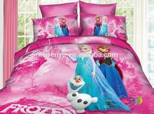 2015 new design for frozen bedding set / 100%cotton frozen bedding set/ hot sale frozen bedding set/