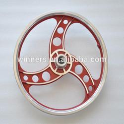 16 inch 3 spokes steel rim wheel,electric bicycle wheel