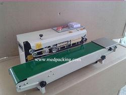 Continuous plastic bag sealing machine date code heat shrinking sealer,impulse sealer