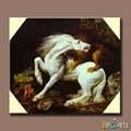 handpainted branco famoso cavalo da pintura a óleo