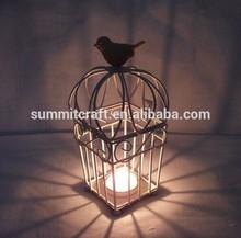 Retro wedding decorative birds cages candle holder
