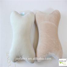 bone shape natural latex rubber foam cute care neck pillow