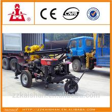 0-130m derin kw13s-2 taşınabilir sığ kuyu sondaj kulesi/kullanılan traktör Su sondaj monte m/c satılık