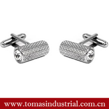 promotional high-end metal silver cufflink and metal crafts tie clips with custom logo