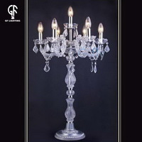 Fashionable custom-made 500x900mm L6+1 chrome+Clear decorative torcher floor lamp
