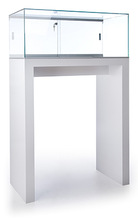Artificial Jewellery Shop wood glass display desk for jewelry
