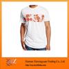 Big Flower T-Shirt Men Basic T-Shirt Cotton Jersey