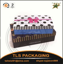 Kids cardboard boxes/Delicate cream glossy lid and base cardboard wedding gift box packaging