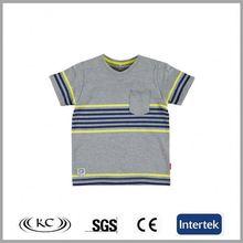 sale online 100 cotton low price gray stripe baby v neck t shirt