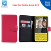 Wallet Leather Case For Nokia Asha 210 Cover Credit Card Slots Pouch