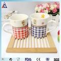 De dibujos animados personalizados tazas de té de/de té de cerámica taza/taza peque&nt