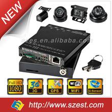 For Taxi Car School Bus Truck Police car SD Card 4CH G-Sensor WIFI GPS 3G 1080P 720P Fleet CCTV