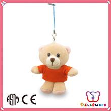 Familiar in oem odm factory cute style popular plush keychain bear toy