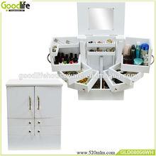 shenzhen original makeup organizer box with mirror/drawers manufactuer
