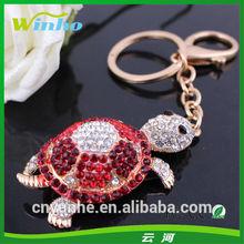 Crystal Tortoise Rhinestone Keyring