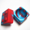 China wholesale New products FDA grade matte finish lego style 9ml small silicone jar