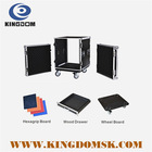 Profession China aluminum flight case,rack case,road 12u with wheels case for power amplifier equipment