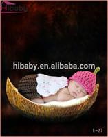 Baby basket of knitting handicraft Baby gift photo props