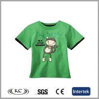 good price 100%cotton new green print sweet girl brand t-shirts