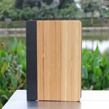 Wood Flip leather case cover for ipad mini 2, Wood cover for ipad mini