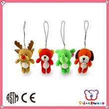 ICTI Factory cute style popular animals plush keychain toys