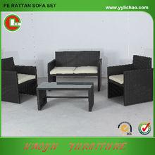 PE rattan wicker round outdoor garden sofa