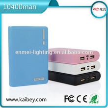 Large capacity real 10400mAh mobile power bank charger