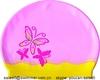 Factory direct sale custom printed silicone cute swim cap for ladies