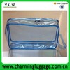 transparent clear pvc cosmetic bag/ PVC zipper makeup bag