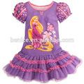 verano 2014 nuevo traje de las niñas vestido de rapunzel