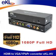 New design HDMI to VGA/YPbPr converter, HDMI input, YPbPr + VGA + RCA R/L + SPDIF output