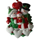 Personalized Christmas Ornaments,Santa Claus is Coming with a Train of Gifts