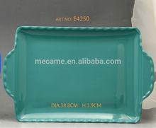 E4250 MELAMINE FRUIT TRAY /tea tray/serving tray with handles for family