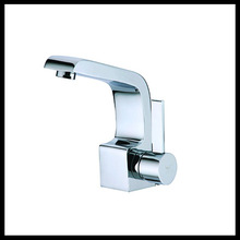 New design chrome polished treatment contemporary style single lever one hole basin faucets