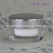 Clear Acrylic Jar With Cap Aluminium Jar Cosmetic