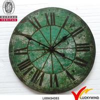 vintage green finish round wall digital prayer clock