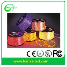 2014 13mm 2wire solid 24 36leds 30m to 100m with CE GS RoHS Color changing neon LED rope light