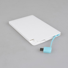 Travel essentials power bank credit card size micro usb battery charger