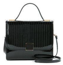 2014 Office use tote fashion fancy shiny leather big PU shoulder leather lady bag EC7102