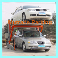 Genuine CE Certificate Two Post Tilting Car Parking Lift parking shade