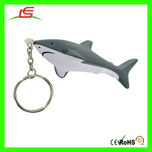 Dolphin with gray and white plush keychain