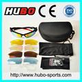 การออกแบบของจีนใหม่เปลี่ยนเลนส์uv400แว่นตากันแดดกีฬาสั้น