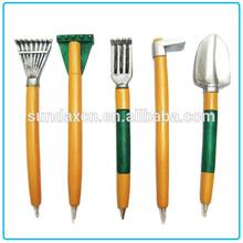 Cheap Resin Fancy Mini Farmer Garden Tools Resin Ballpoint Pen