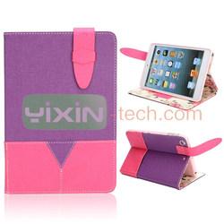 For iPad mini 2 smart leather cover, TPU leather cover for ipad mini 2