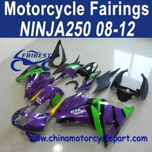 Rapid Delivery 08 09 10 11 12 For Kawasaki ninja 250 Motorcycle Fairings Cheap Purple EVA1 FFKKA001