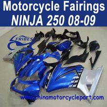 Injection Mold 08 09 For Kawasaki NINJA 250 Motor Fairing Blue Silver FFKKA001